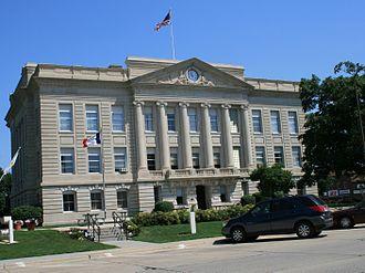 Jefferson, Iowa - Greene County Courthouse in Jefferson