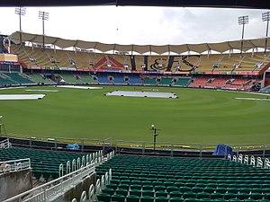 Greenfield International Stadium - Greenfield stadium just before the Twenty20 International cricket match between India and New Zealand on 7 November 2017