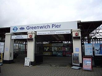 Greenwich Pier - Image: Greenwich pier