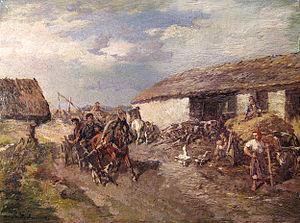 Gregor von Bochmann - Estonian Village Road (1890s)