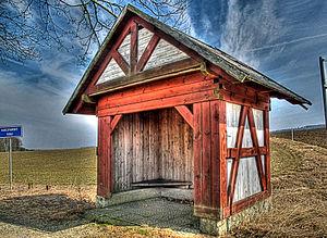 Upper Palatine Forest - Hut on the German-Czech border near Neualbenreuth
