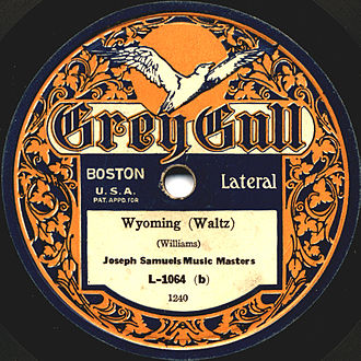 Grey Gull Records - 1921 disc featuring the orchestra of Joseph Samuels