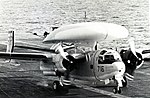 Grumman E-1B Tracer of VAW-111 Det.12 landing aboard USS Hornet (CVS-12), in 1967.jpg