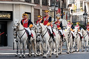 Civil Guard (Spain) - Horse Guards of the Guardia Civil during the ceremonies of the Dos de Mayo 2008 in Madrid