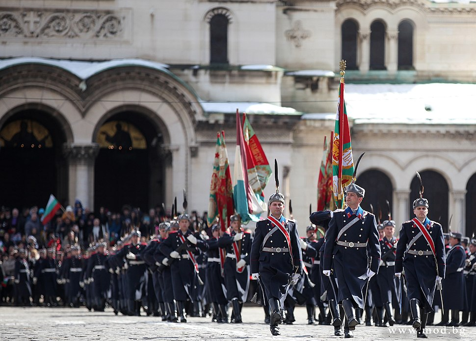 Guards unit on Liberation Day