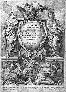<i>Het Gulden Cabinet</i> book by Cornelis de Bie
