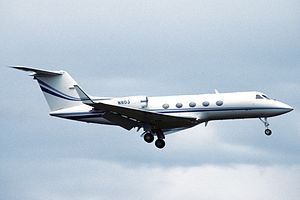 2001 Avjet Aspen crash - A Gulfstream III business jet similar to the accident aircraft