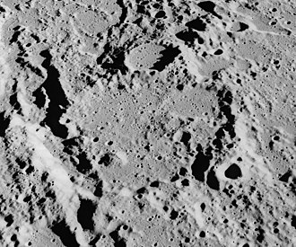 Gyldén (crater) - Oblique view from Apollo 16