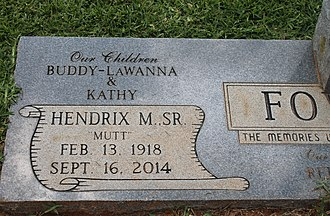 H. M. Fowler - Fowler grave marker at Springville Cemetery in Coushatta, Louisiana