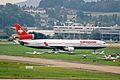 HB-IWS MD-11 ex Swissair(stored) ZRH 04SEP02 (8269536164).jpg