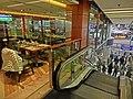 HK 銅鑼灣 CWB 柏寧酒店 The Park Lane Hotel night shopping mall interior escalators Cafe One restaurant n visitors Dec-2013.JPG