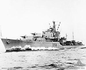Battle-class destroyer - Image: HMAS Anzac (AWM P00271 001)