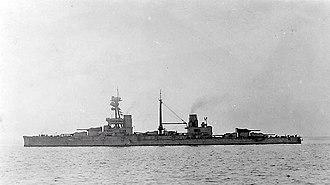 HMS Agincourt (1913) - Agincourt in 1918