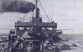HMS Britannia (1904) - Forecastle of Britannia ca. October 1914.