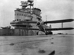Operation Sportpalast - A Fairey Albacore on HMS Victorious (R38)