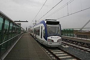 Javalaan RandstadRail station - Image: HTM 4022 Zoetermeer Randstadrail (ongeopend) Javalaan 16 11 2006