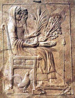 Аид и Персефона на троне в царстве мертвых