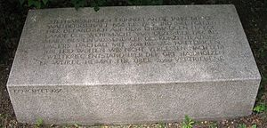 Stephanskirchen - Memorial stone, reminding of those who were imprisoned here during world war two