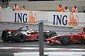 Hamilton + Raikkonen 2008 Belgium.jpg