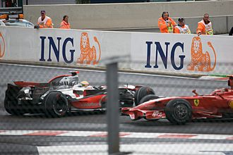 2008 Belgian Grand Prix - Hamilton spins on the second lap of the race, allowing Kimi Räikkönen to pass him for the lead.