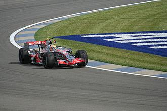 2007 United States Grand Prix - Lewis Hamilton on his way to pole position