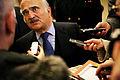 Hans Kongelige Hojhed Prins Hassan af Jordan talar med pressen efter sitt tal i plenum under Nordiska radets session i Kopenhamn 2006.jpg