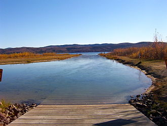 Harding-Birch Lakes, Alaska - Boat launch at Harding Lake State Recreation Area