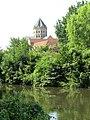 Hase (Fluss) mit Vierungsturm des Domes zu Osnabrück.jpg
