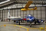 Hawker Hunter and Slingsby Cadet at Yorkshire Air Museum (8343).jpg