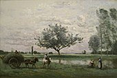 Hay Cart along a River, 1865 to 1870, by Jean-Baptiste-Camille Corot (1796-1875) - IMG 7228.JPG