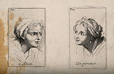 Head of a woman expressing desire (left); head of a woman ex Wellcome V0009384.jpg