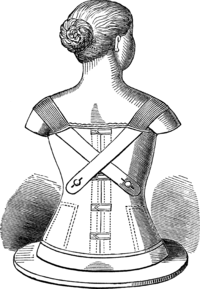 rear view of bodice