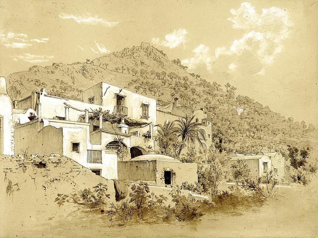 Casa Pagano sur l'île de Capri par Heinrich Reinhold au 19e siècle.