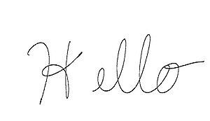 English: My handwriting sample.