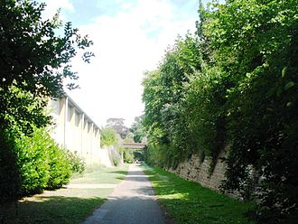 Yeovil–Taunton line - The former site of Yeovil Hendford, now part of a cycle path