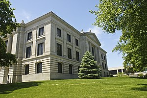 Danville, Indiana - Hendricks County Courthouse in Danville
