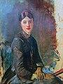 Henri de Toulouse-Lautrec, Portrait of a young woman, 1883, National Museum of Serbia.jpg