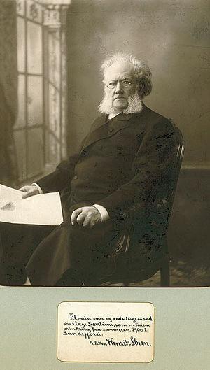 Ibsen Museum (Oslo) - Henrik Ibsen. Photo by Gustav Borgen, Kristiania (Oslo) 1898.