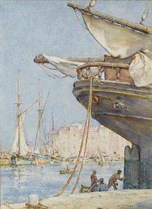 Henry Scott Tuke - Painting the rudder.jpg