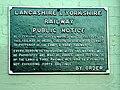 Hensall, Railway Public Notice - geograph.org.uk - 243318.jpg