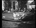 Herbert Hoover and group; with flag with U.S. seal, White House, Washington, D.C. LCCN2016889966.jpg