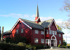 Ullensaker - Herredshuset was completed in 1901 and housed Ullensaker county administration until 1967.