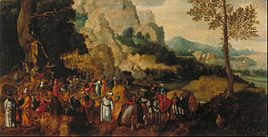 Landscape with Saint John the Baptist Preaching