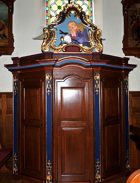 De Maria-Magdalena Beichtstull an der Kierch zu Hiefenech.