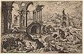 Hieronymus Cock after Maerten van Heemskerck, Saint Jerome in a Landscape with Ruins, 1552, NGA 91354.jpg