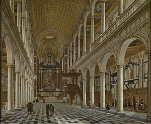 Saint Carolus Borromeus church - Image: Hieronymus Janssens and Willem von Ehrenberg Interior of the Saint Carolus Borromeus Church in Antwerp