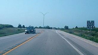 Iowa Highway 141 - Iowa 4/Iowa 141 overlap ends near Jamaica