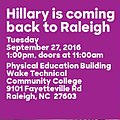 Hillary is coming back to Raleigh.jpg