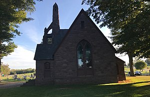 Hillside Cemetery (Clarendon, New York) - Image: Hillside Cemetery Chapel North Side