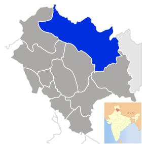 Localisation de Lahaul and Spitiलाहौल और स्पीती जिला